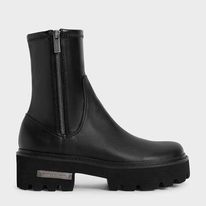 あす楽 交換 返品可能 チャールズ アンド キース CHARLES 送料無料 新品 KEITH レディースシューズ ブーツ ブーティ 国内即発送 Ankle Black サイドジップ 新作 アンクルブーツ ロコンド FALL Side-Zip 2021 Boots