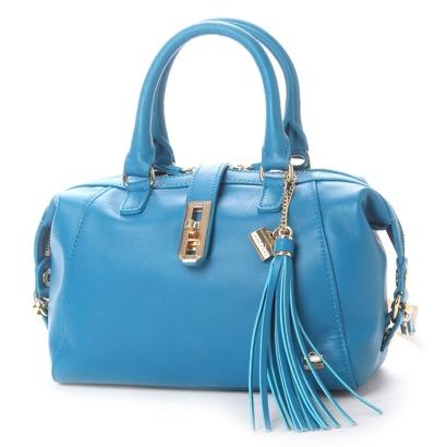 【アウトレット】ラ バガジェリー LA BAGAGERIE レザー 2wayミニボストンバッグ (BLUE)
