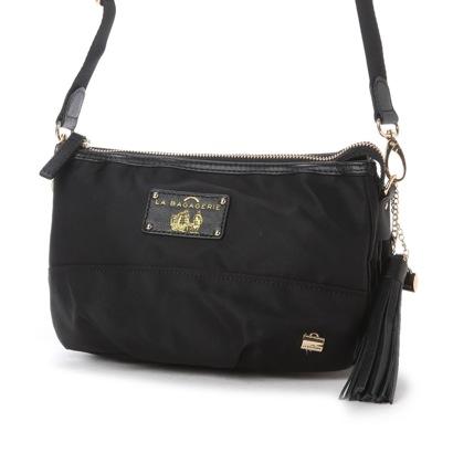 ラ バガジェリー LA BAGAGERIE ウォータープルーフナイロン お財布ポシェット (BLACK)