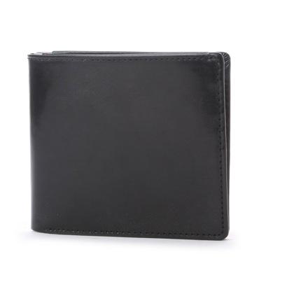 ブリティッシュグリーン BRITISH GREEN ダブルブライドルレザー二つ折り財布マルチカラー (ブラック)
