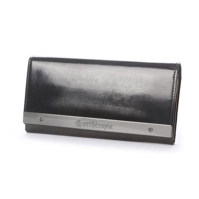 アルセラピィ artherapie ATメタルプレートアドバン かぶせ長財布 (シルバー)