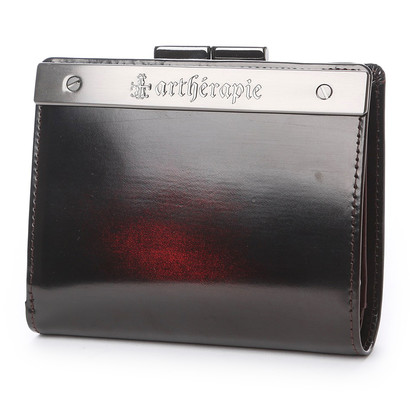 アルセラピィ artherapie ATメタルプレートアドバン 二つ折りがま口財布 (ボルドー)
