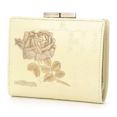 アルセラピィ artherapie フィセルローズ 二つ折りがま口財布 (アイボリー)