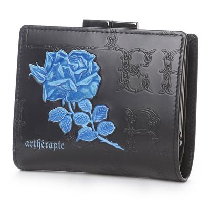 アルセラピィ artherapie フィセルローズ 二つ折りがま口財布 (ブルー)