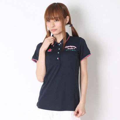 マンシング Munsing ゴルフシャツ 半袖シヤツ(ニツト) SL1691 (ネイビー)