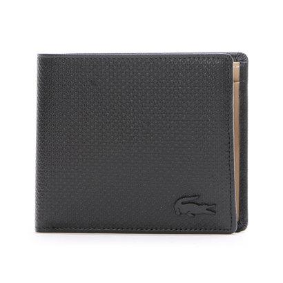 ラコステ LACOSTE CHANTACO MEN 2つ折り財布 (ブラック)