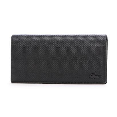 ラコステ LACOSTE CHANTACO MEN かぶせ型長財布 (ブラック)