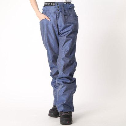【アウトレット】ワンスリー ONE THREE レディース スノーボード パンツ DENIM PNT OTP89101 (ブルー)