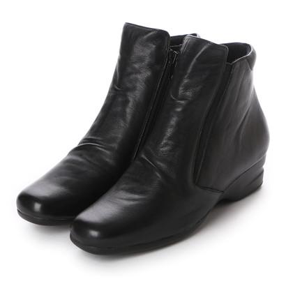 【アウトレット】アトリエ Atelier サイドゴアショートブーツ (ブラック)