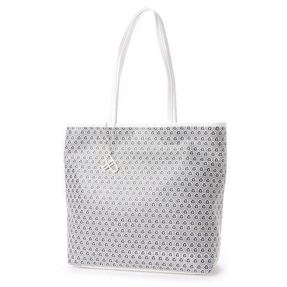 フォーパ パリ FAUX PAS PARIS Monogram Tote Bag (White)