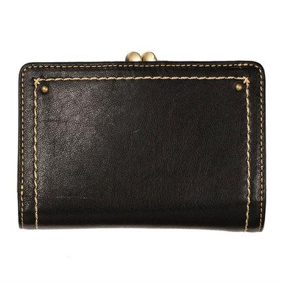 アノン ANON 外ガマ2つ折り財布 (ブラック)