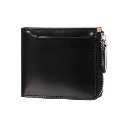 ミラグロ Milagro コードバン L字ファスナー長財布 (ブラック)