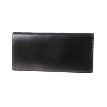 ミラグロ Milagro コードバン 通しマチ長財布 (ブラック)