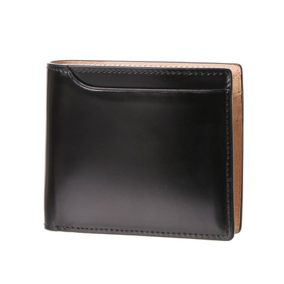 ミラグロ Milagro コードバン 2つ折り財布 (ブラック)