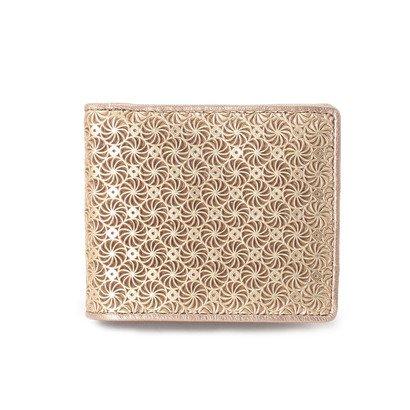 ヒロコ ハヤシ HIROKO HAYASHI GIRASOLE(ジラソーレ) 二つ折財布 (ゴールド)