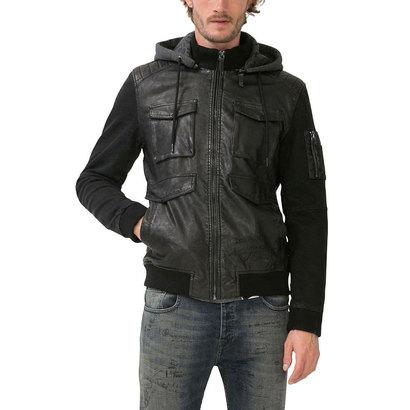 【アウトレット】デシグアル Desigual  ジャケット アウター フード付き 取り外し可能 (ブラック)