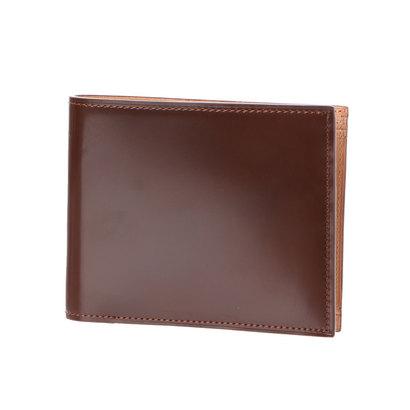 フライングホース FLYING HORSE コードバン二つ折り財布 (ブラウン)