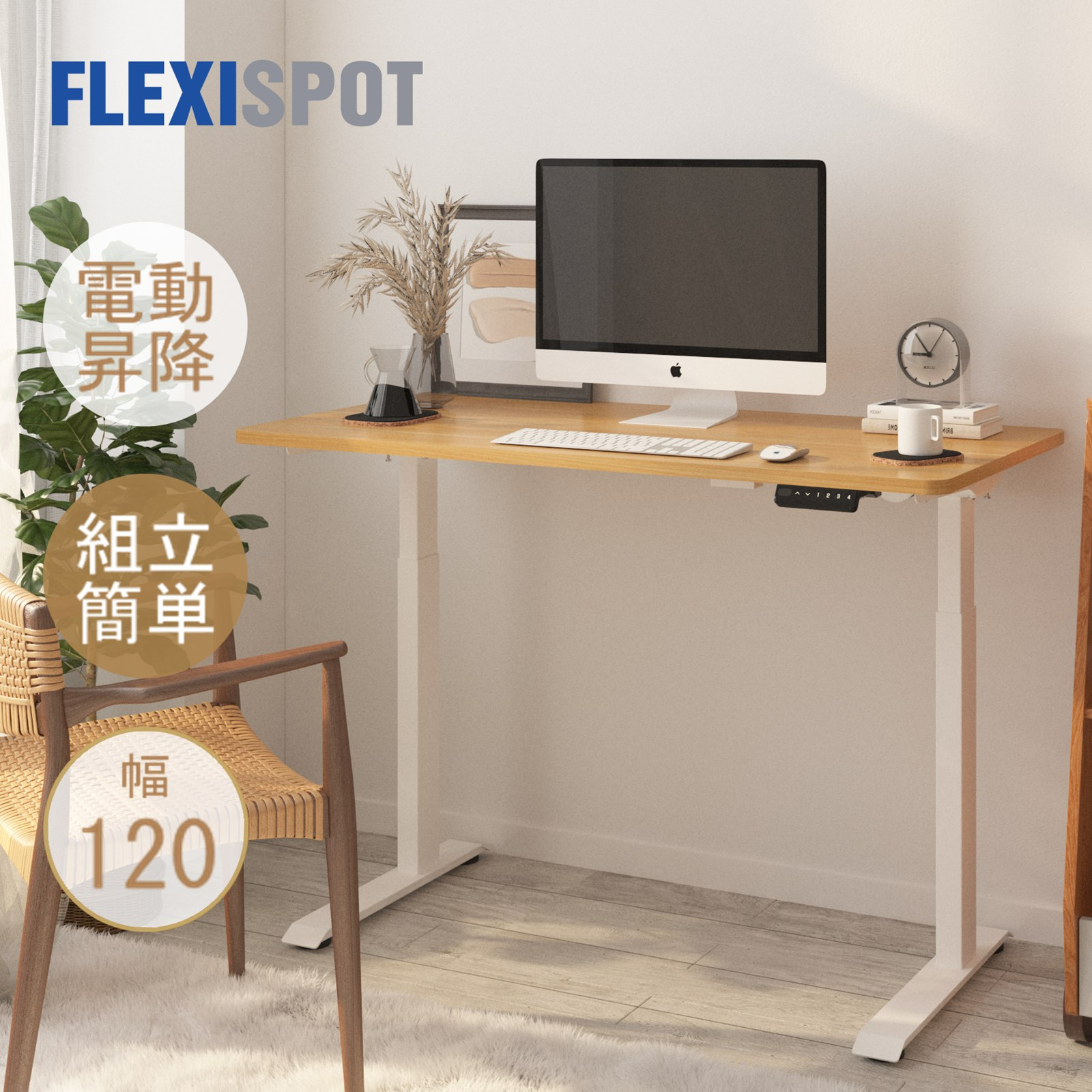 15分ぐらい組立できる昇降デスク スタンディングデスク 全店販売中 昇降デスク 新品 組立簡単 FlexiSpot E9 フレキシスポット 電動 オフィスデスク 作業台 幅120cm 昇降テーブル デスク 机 昇降 パソコンデスク 電動式 高さ調節