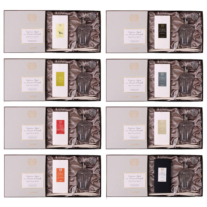 ディフューザー 部屋 香り アロマ !クリスタルボトルで豪華に香りを楽しむ【アンティカファルマシスタ】クリスタルデキャンタ&ボックス(スティック付き)ルームディフューザー アロマディフューザーフレグランス