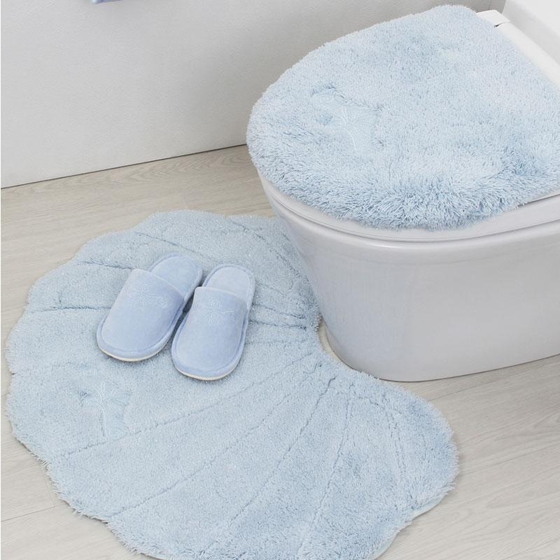 トイレマット セット 3点 おしゃれ かわいい マリン 北欧ラメールトイレマット 洗浄暖房用ふたカバー スリッパ 3点セット ホワイト ブルートイレマットセット 貝がら シェル 洗える ハワイ ルーブルダール