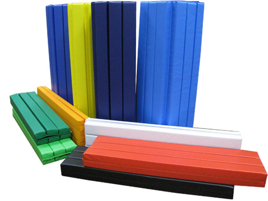 セーフティマット ロールマット 10A-8W 50mm厚 1000mm×800mm 8つ折れ 青 緑 黄 黄緑 スカイブルー 赤 オレンジ 黒 濃緑 濃青