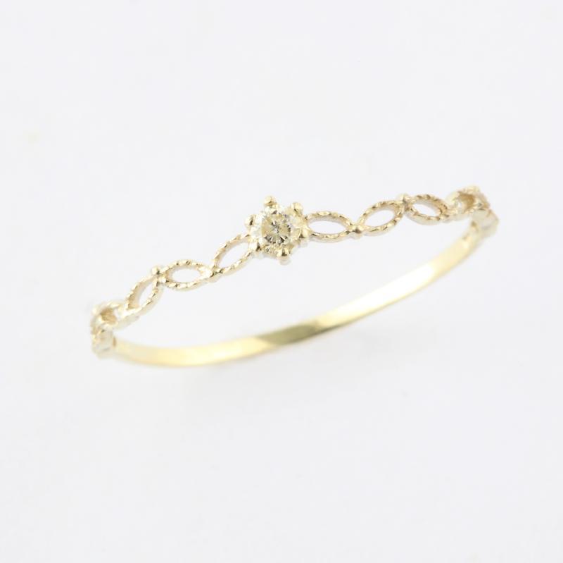 ミエルジュエリー pure design ring K10 送料無料ギフト プレゼント リング 10金 レディース 誕生日 記念日