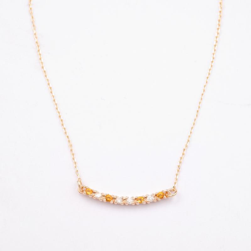 HACHITSUBU necklace citrine-topaz 18k 送料無料【ミエルジュエリー】ギフト プレゼント ペンダント 18金 レディース 記念日 誕生日
