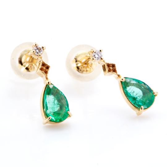 【ミエルジュエリー】 Drop pierce emerald 10kギフト プレゼント ピアス 10金 レディース 誕生日 記念日