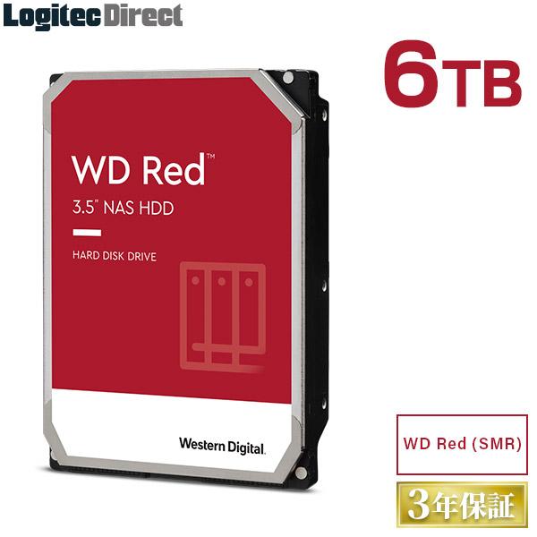 WD Red WD60EFAX 内蔵ハードディスク SMR HDD 6TB 3.5インチ Western Digital(ウエスタンデジタル)【LHD-WD60EFAX】