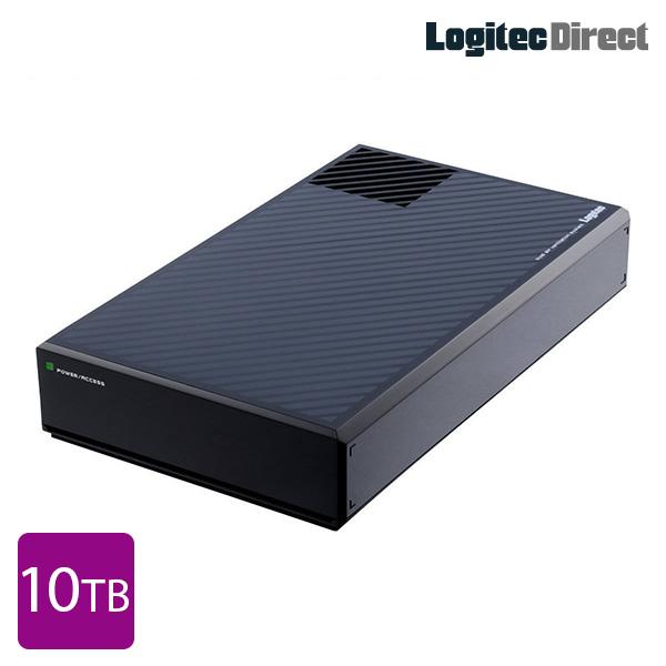 ロジテック ハードディスク HDD 10TB 外付け 3.5インチ 超高速 静音ファン搭載 USB3.1(Gen1) / USB3.0 国産 省エネ 【LHD-EG100THU3F】【受注生産品(納期目安2~3週間)】