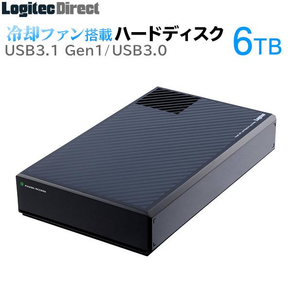 ロジテック ハードディスク HDD 6TB 外付け 3.5インチ 静音ファン搭載 USB3.1(Gen1) / USB3.0 国産 省エネ静音 【LHD-EG60U3F】