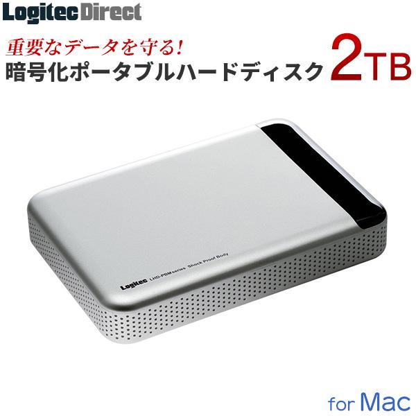 ロジテック Mac専用 ポータブル ハードウェア暗号化 セキュリティ ハードディスク HDD 耐衝撃 2TB USB3.1(Gen1) / USB3.0 Type-C対応 PCで録画番組が見れるソフト付 国産 【LHD-PBM20U3BSM】