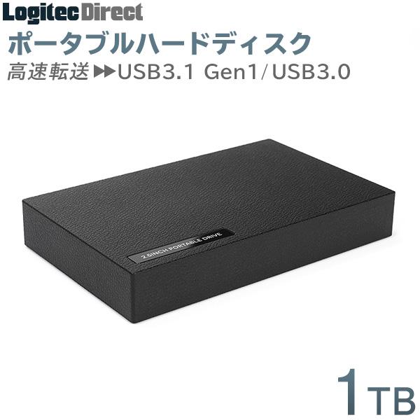 日本製ポータブルHDD TV録画対応 USB3.1 Gen1 指紋とキズが目立たない表面加工を採用 ポータブルHDD 1TB USB3.1(Gen1) / USB3.0 ポータブルハードディスク 外付け 小型 ハードディスク テレビ録画 ロジテック【LHD-PBR10U3BK】
