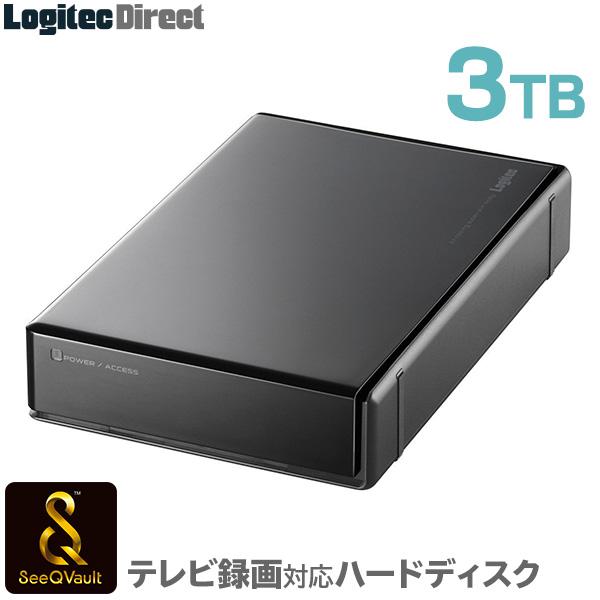 【3/14値下げしました】ロジテック SeeQVault対応 外付けHDD ハードディスク 3TB テレビ録画 テレビレコーダー シーキューボルト 3.5インチ USB3.1(Gen1) / USB3.0 【LHD-EN30U3QW】