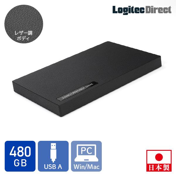ポータブルSSD USB3.1 ストアー Gen1 外付け ゲーム PS4 SSD テレワーク ポータブル ロジテック 480GB 売買 小型 リモートワーク 外付けSSD LMD-PBR480U3BK