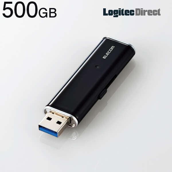 USBメモリサイズの超小型で読み出し最大400MB sの高速データ転送を実現するUSB3.2 Gen1 外付けポータブルSSD エレコム 完売 ブラック 500GB 超小型スライド式 ESD-EMN0500GBKR 当店限定販売