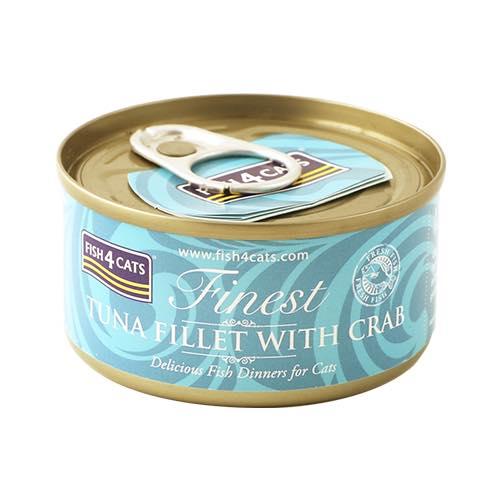 【正規輸入品】FISH4CATS(フィッシュ4キャット)ツナ&カニ 缶詰 猫用 70g