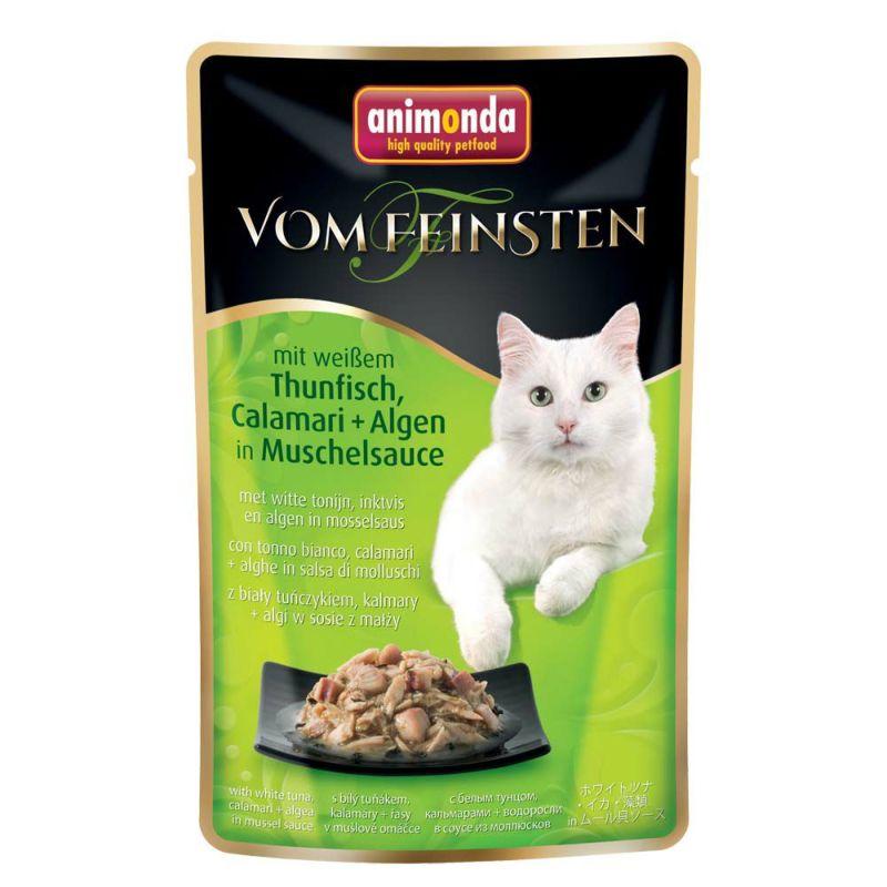 【正規輸入品】アニモンダ フォムファインステン ディッシュ パウチ ホワイトツナ・イカ・藻類・ムール貝ソース 猫用 50g