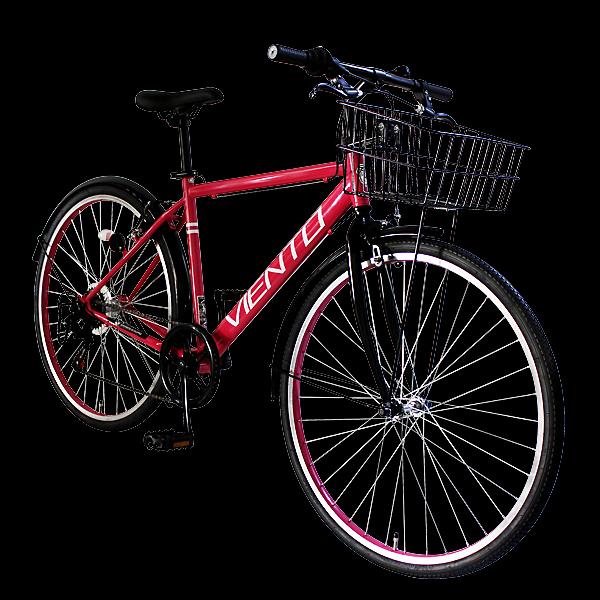 自行車 26 寸 VIENTO (Viento) 自行車 6 速籃子自行車速度通勤籃的自行車,城市巡洋艦 700 c 自行車市騎自行車上學 T-MCA266-43-粉紅色