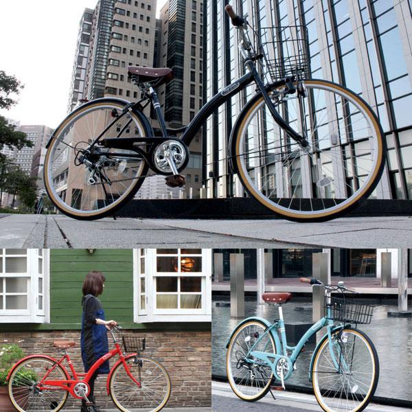 【送料無料】/クロスバイク/26インチ自転車/6段変速/カゴ/jitensya/してぃさいくるじてんしゃ/【クロスバイク通勤】/T-CCB266-