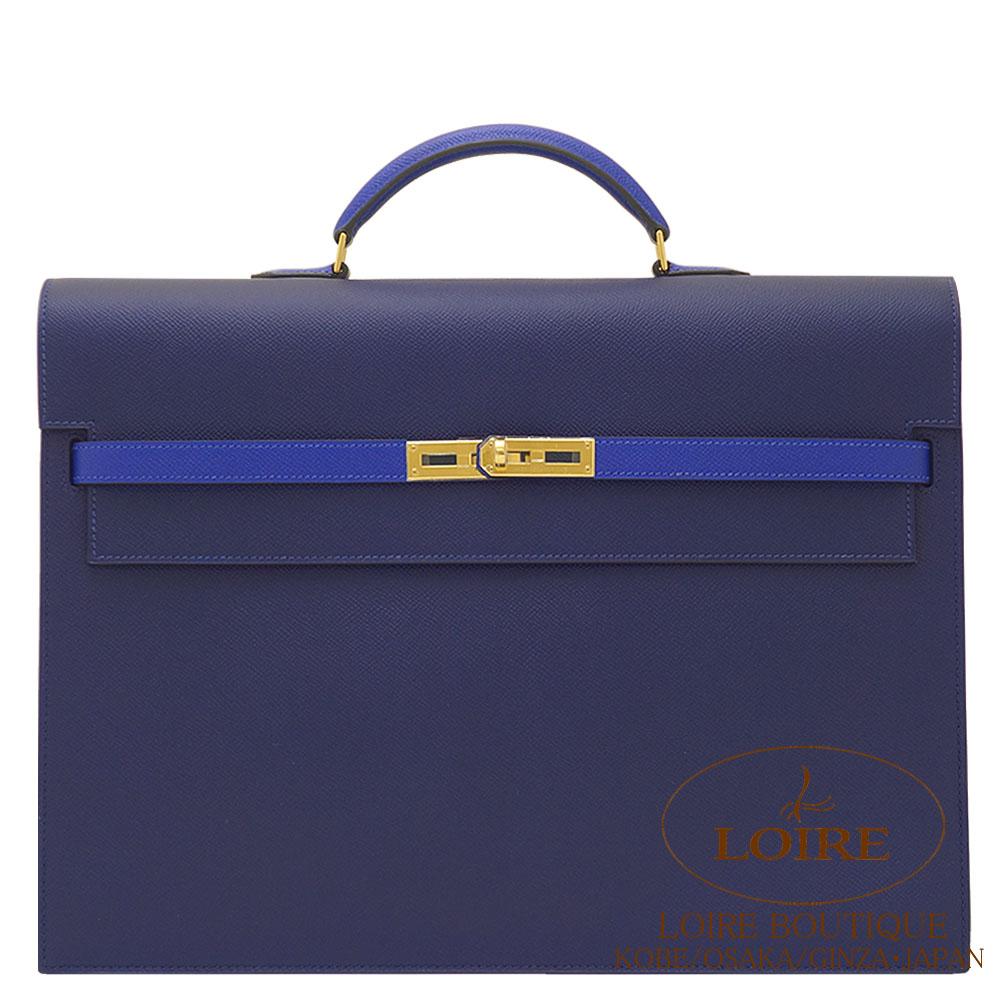 エルメス[HERMES] ケリー ディペッシュ 38cm パーソナルオーダー エプソン ブルーサフィール×ブルーエレクトリック [BLEU SAPHIR(73)/BLEU ELECTRIQUE(7T)] ゴールド金具
