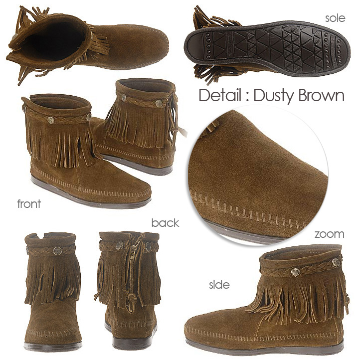 291t Hi 299 Boot 297t Fringe Minnetonka Booties Suede 292 Back Top Zip Studded 293 8kNwn0OPX