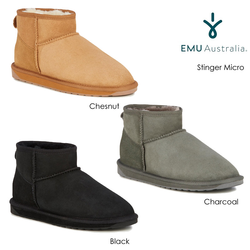 132fdb63145 EMU emu sheepskin boots Stinger LOW stinger low mouton boots half mouton