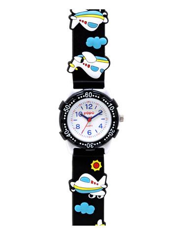 時計子供用 バンドにキュートなデザイン柄 キッズ腕時計 子供用腕時計 キッズ時計 キッズウォッチ 値下げ 黒 飛行機 プレゼントに最適卒園記念など大量受注実績あり 卒園記念 入学祝い 保育園 時計 幼稚園 サンフレイム 子供用時計入園 入学 小学校 ディスカウント