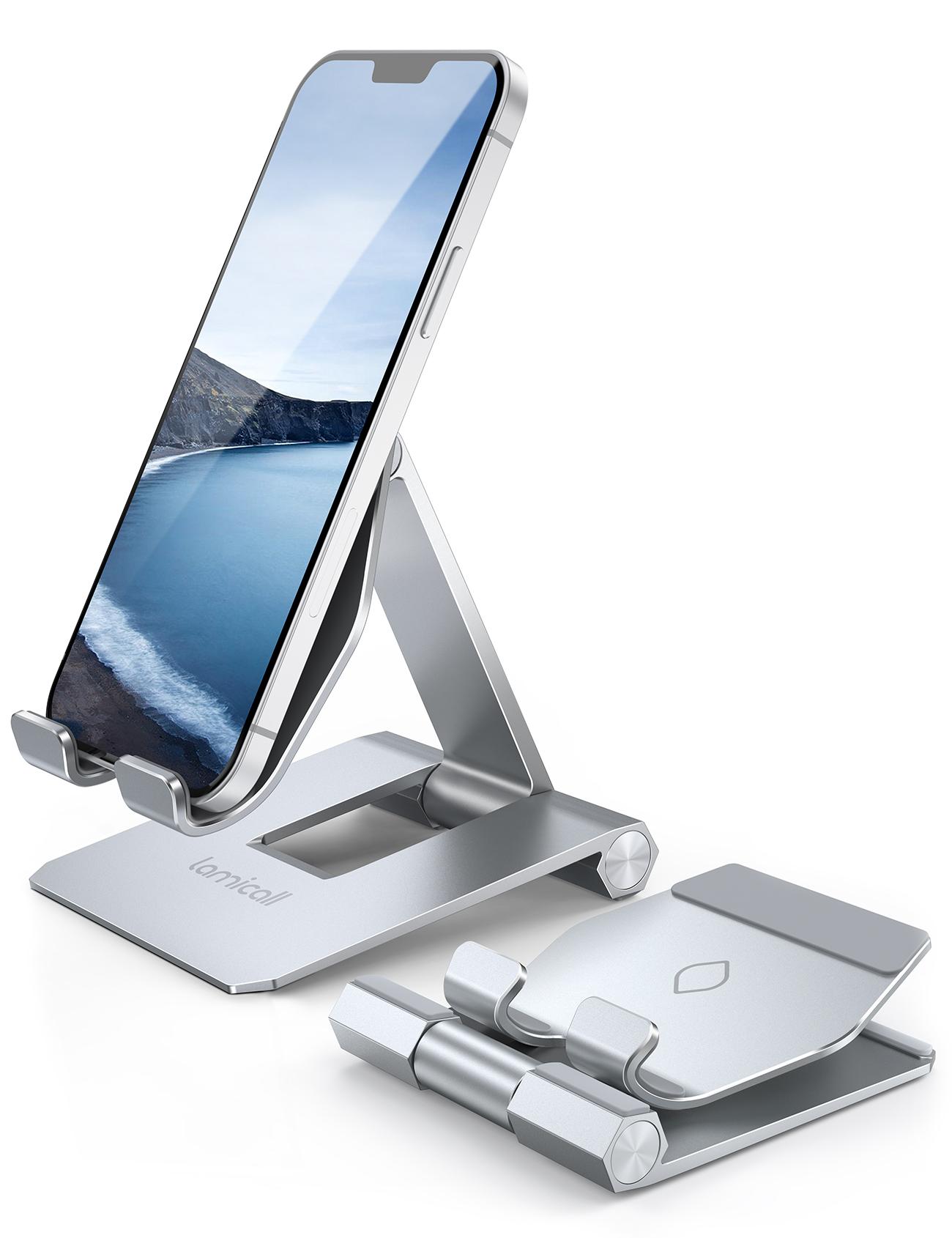 送料無料 持ち運び便利 スタンド 小型 軽量 iPhone Android iPad スマートフォン アイフォン 滑り止め防止 折り畳み式 スマホスタンド 無料サンプルOK 角度調整 可能 携帯 置き台 卓上 すたんど 机 foldable phone stand holder 10 Max アルミ mini 期間限定送料無料 持ち運びやすい max デスク コンパクト 新 6 立て 8 5 旅行用 pro X 7 Pro Switch 12 11 XS に対応 XR