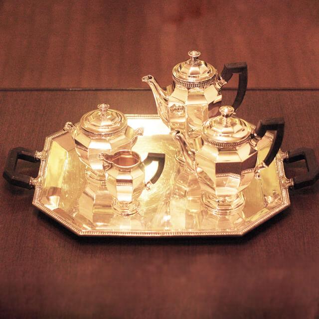 【中古】Christofle(クリストフル) 家庭用5点ティーセット ch-70【送料無料】【アンティーク】【フランス製】