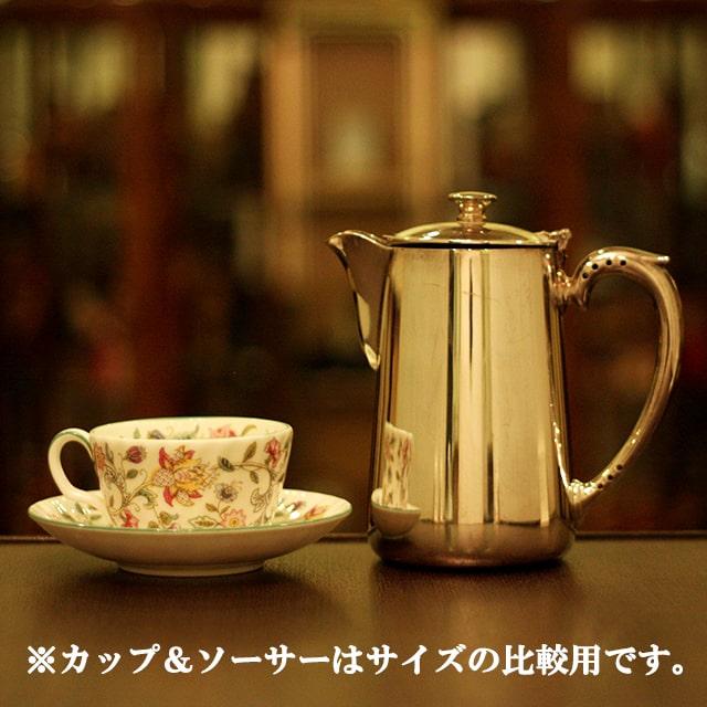 【中古】SHEFFIELD(シェフィールド) 業務用コーヒーポット sh-867【アンティーク】【イギリス製】【シルバー】
