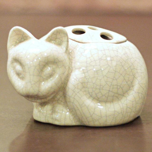 中古 Tiffany ティファニー 小猫ポプリホルダー 往復送料無料 磁器 tf-88 香炉 販売