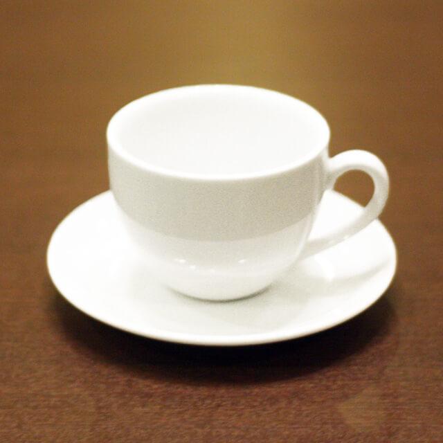 陶器モーニングカップ&ソーサー6客セット(無地)/業務用/国産