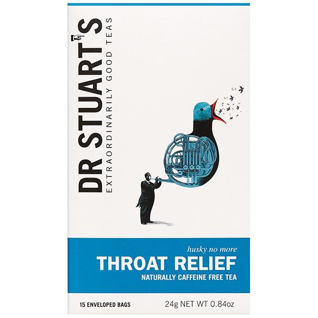 """世界的ハーバリスト""""ドクター・スチュアート""""プロデュース Dr.スチュアートのハーブティー Dr.Stuart's THROAT RELIEF(ドクタースチュアート スロートリリーフ)ティーバッグ15袋入"""